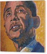 President Barack Obama Wood Print by David Lloyd Glover