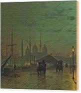 Prince's Dock Hull Wood Print by John Atkinson Grimshaw