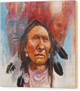 Proud Warrior Wood Print by Robert Carver