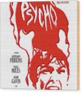 Psycho Wood Print by Ron Regalado