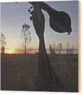 Public Art At Sun Rise Wood Print by Sven Brogren