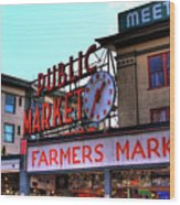 Public Market II Wood Print by David Patterson