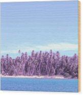 Purple Island Wood Print by Barbara Marcus