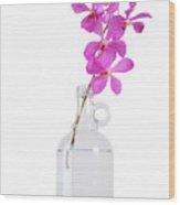 Purple Orchid Bunch Wood Print by Atiketta Sangasaeng