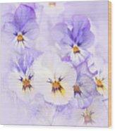Purple Pansies Wood Print by Elena Elisseeva