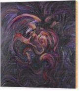 Purple Passion Wood Print by Nadine Rippelmeyer