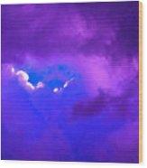 Purple Storm Wood Print by Gwyn Newcombe