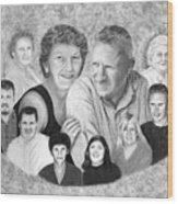 Quade Family Portrait  Wood Print by Peter Piatt