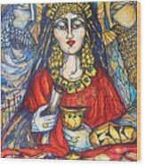 Queen Esther Wood Print by Rae Chichilnitsky