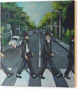 Rabbi Road Wood Print by Valerie Vescovi