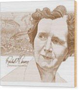 Rachel Carson Wood Print by John D Benson