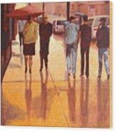 Rain In Manhattan Number Eighteen Wood Print by Tate Hamilton