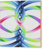 Rainbow Loops Wood Print by Michael Skinner