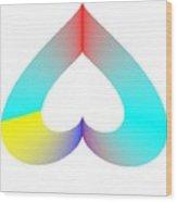 Rainbow Sos Wood Print by Michael Skinner