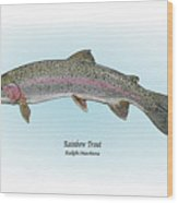 Rainbow Trout Wood Print by Ralph Martens