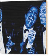 Rat Pack At Carnegie Hall Wood Print by DB Artist
