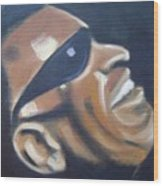 Ray Charles Wood Print by Toni Berry