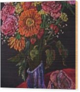 Recital Bouquet Wood Print by Emily Michaud