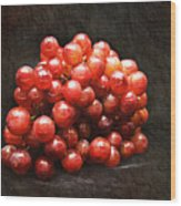 Red Grapes Wood Print by Andee Design