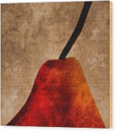 Red Pear IIi Wood Print by Carol Leigh
