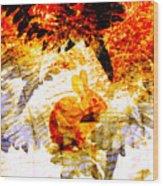 Red Rabbit Wood Print by Robert Ball