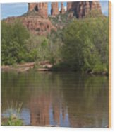Red Rock Crossing In Sedona Wood Print by Sandra Bronstein