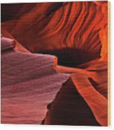 Red Rock Inferno Wood Print by Mike  Dawson