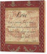 Red Traditional Love Wood Print by Debbie DeWitt