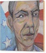 Reelecting Obama In 2012 Wood Print by Derrick Hayes