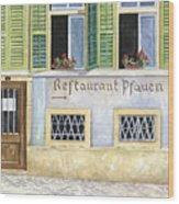 Restaurant Pfauen Wood Print by Scott Nelson
