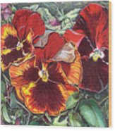 Ring Of Fire Wood Print by Joyce Hutchinson