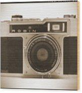 Robin 35mm Rangefinder Camera Wood Print by Mike McGlothlen
