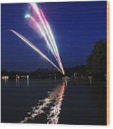 Roman Candle Wood Print by Ty Helbach