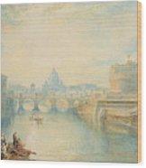 Rome Wood Print by Joseph Mallord William Turner