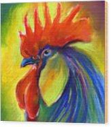 Rooster Painting Wood Print by Svetlana Novikova