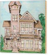 Rose Victorian Inn - Arroyo Grande Ca 1886 Wood Print by Arline Wagner