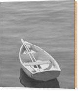 Row Boat Wood Print by Mike McGlothlen