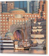 Rowes Wharf Wood Print by Susan Cole Kelly