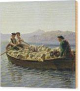Rowing Boat Wood Print by Rosa Bonheur