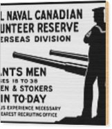 Royal Naval Canadian Volunteer Reserve Wood Print by War Is Hell Store