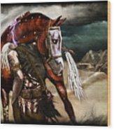 Ruined Empires - Skin Horse  Wood Print by Mandem