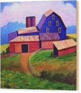 Rural Reverie Wood Print by Hugh Harris