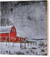 Rural Textures Wood Print by Evelina Kremsdorf