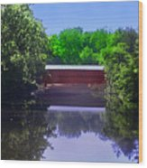 Sachs Covered Bridge In Gettysburg  Wood Print by Bill Cannon