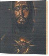 Sacred Heart Wood Print by Tommy  Winn