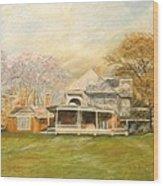 Sagamore Hill Wood Print by Nicholas Minniti