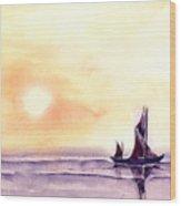Sailing Wood Print by Anil Nene