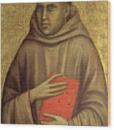 Saint Anthony Abbot Wood Print by Giotto di Bondone