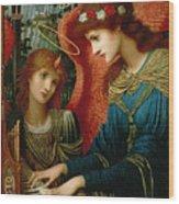 Saint Cecilia Wood Print by John Melhuish Strukdwic