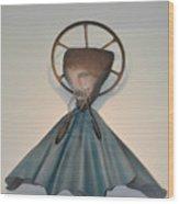 Saint Praise Wood Print by Michael Jude Russo
